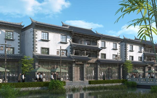 中式商业区