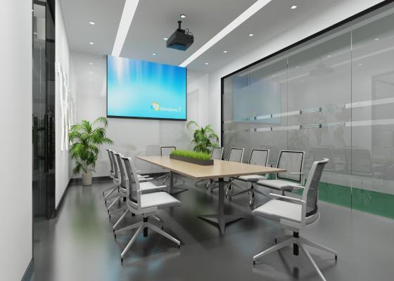 �F代�k公室 投影�x ���h桌椅