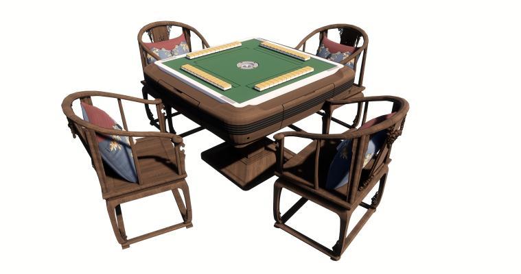 新中式麻将机 麻将桌