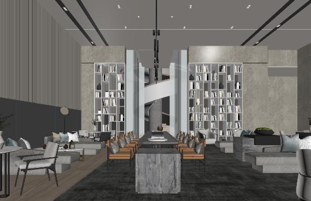 现代酒店休息区