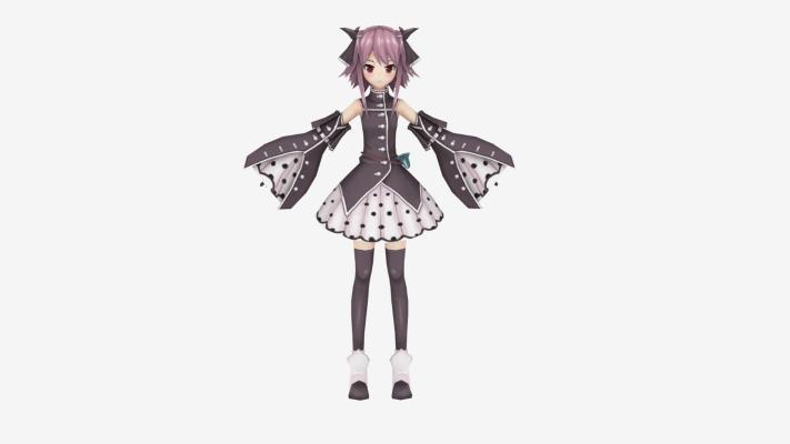 现代游戏 短裙女孩