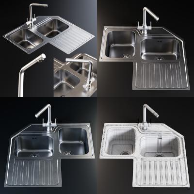现代厨房 水槽