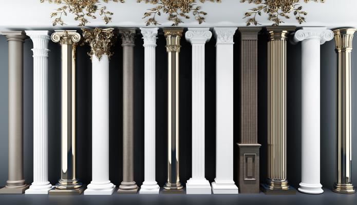 简欧罗马柱 柱子