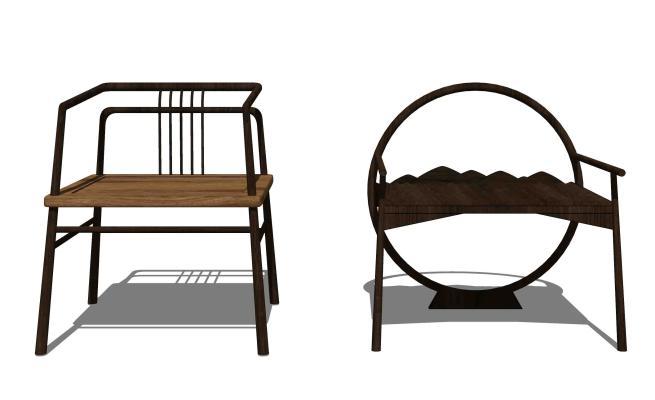 新中式休闲椅