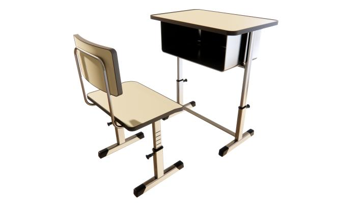 现代学生书桌椅组合