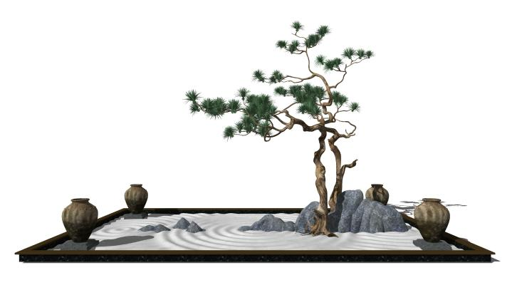 新中式景观小品
