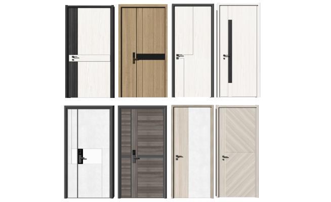 现代风格单开入户门 智能门 密码锁指纹锁家居门