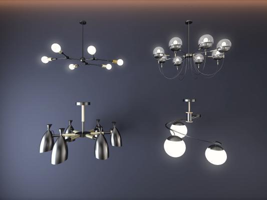 现代铁艺吊灯