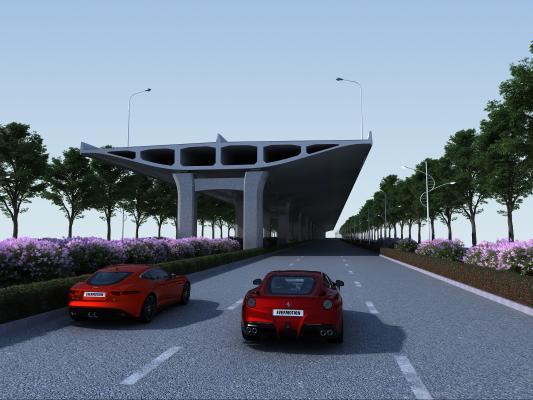 现代水泥高架桥