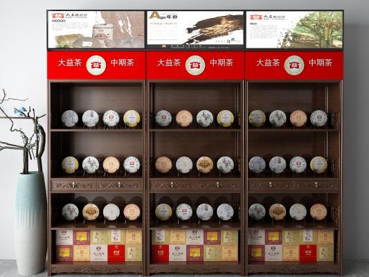 中式展示架 茶叶