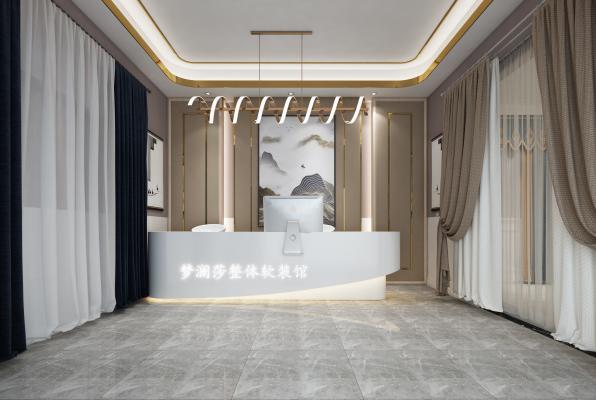 现代窗帘展厅 窗帘店 前台