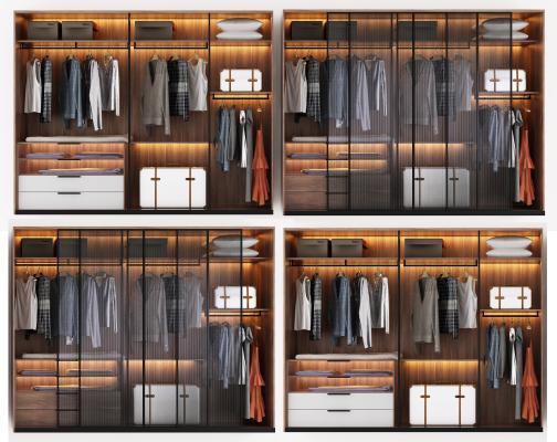 现代衣柜组合