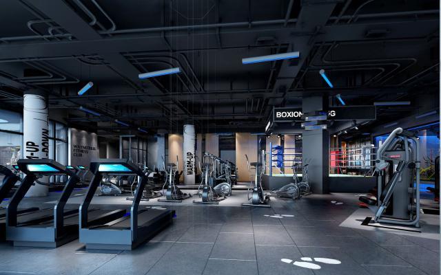 工业风LOFT健身房