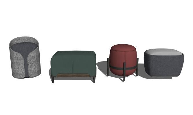 现代矮凳脚凳沙发凳组合