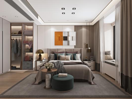 现代轻奢主卧室