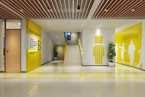 现代公司过道 楼梯间