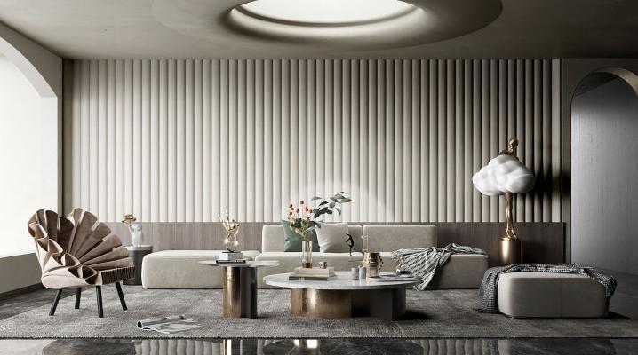现代诧寂客厅