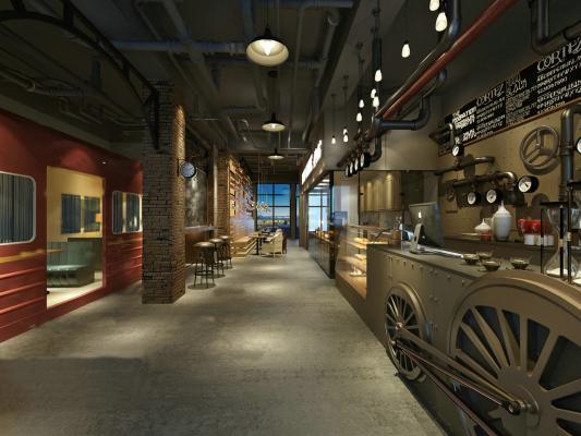 工业风格咖啡厅