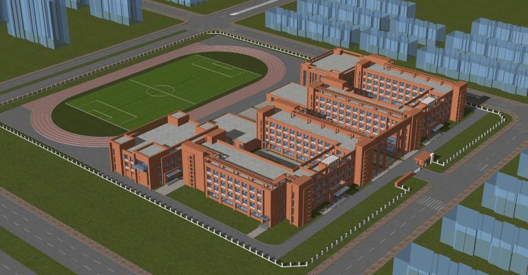 现代学校建筑 教学楼