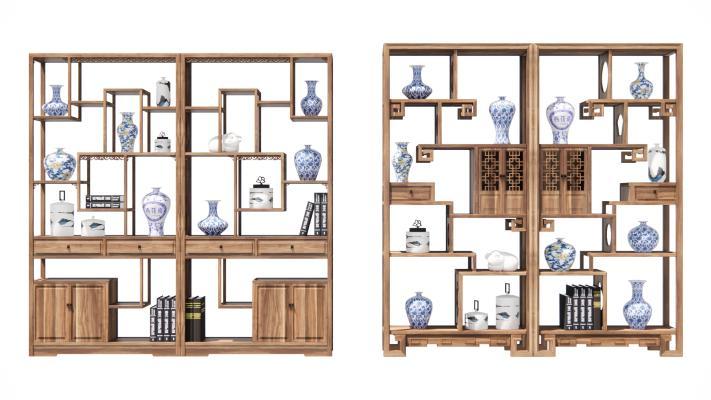 新中式风格博古架 装饰柜 展示柜