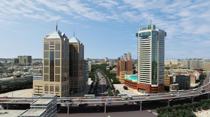 现代商业建筑外观