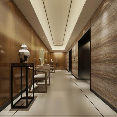 中式风格酒店过道