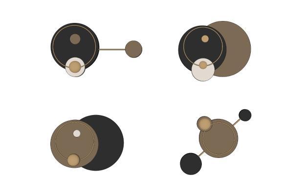 现代圆形墙饰挂件