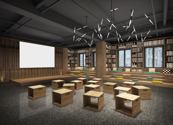 工业风图书馆