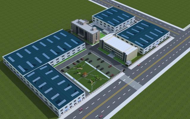 工业风格厂区维卡 走廊 厂区规划