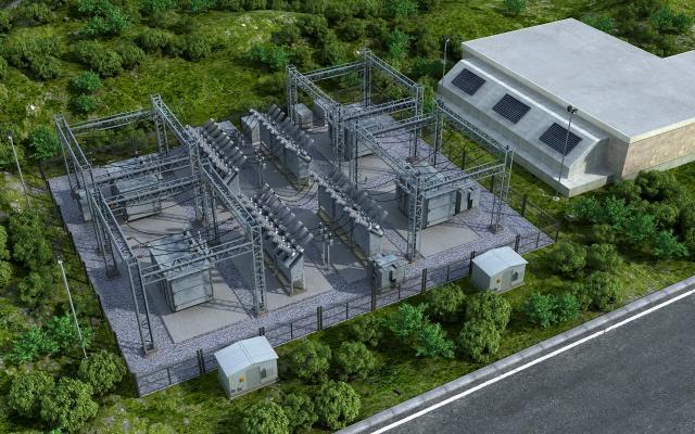 现代变电站 发电站 配电房