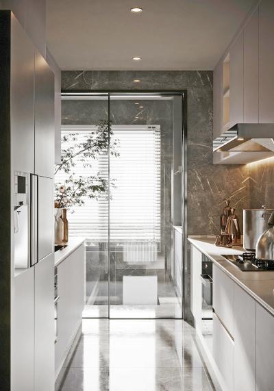 现代厨房 橱柜 阳台柜