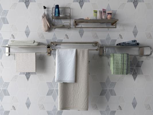 现代毛巾架