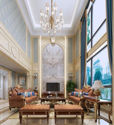美式风格客厅 沙发 电视柜
