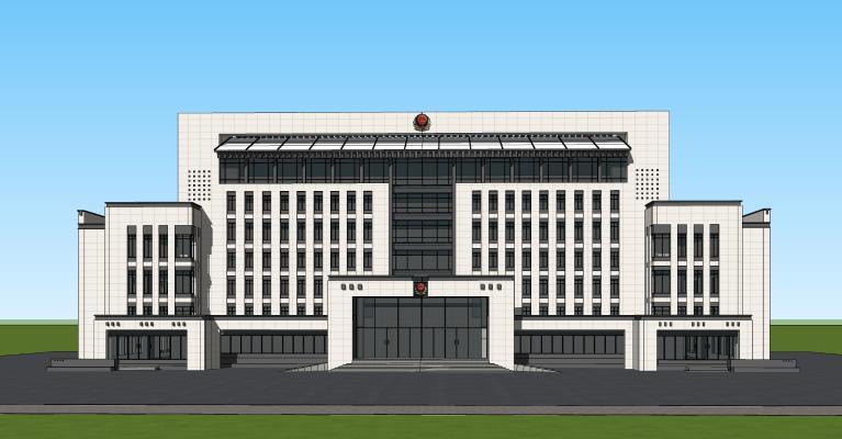 新中式行政办公楼 公安局 交警大队