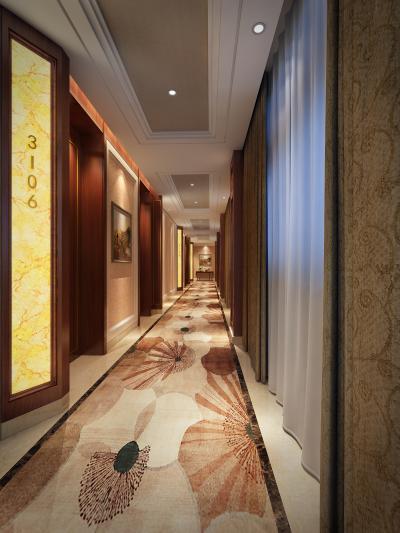 简欧酒店走道 电梯厅