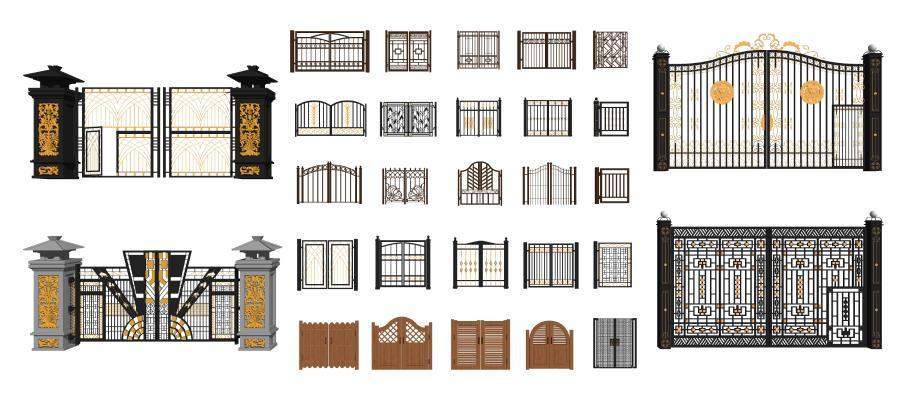 欧式风格庭院门 大门 铁艺大门 铁大门