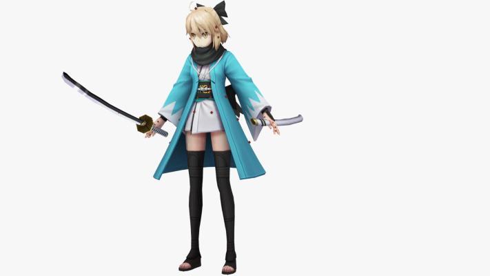 现代游戏角色 美女拿刀