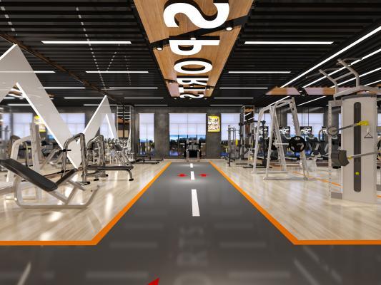 工业风健身房 力量训练区