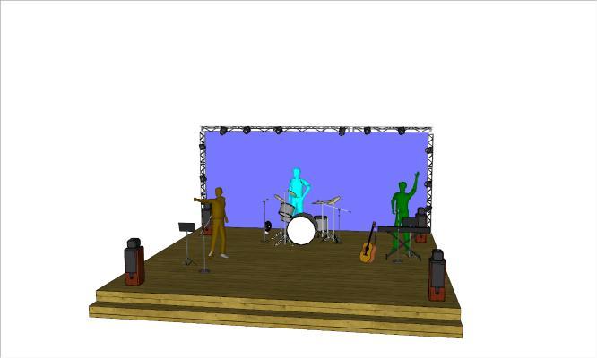 现代舞台乐器