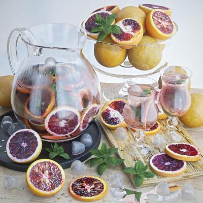 现代食物水果橙子柠檬饮料