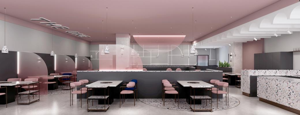 现代火锅店 餐厅