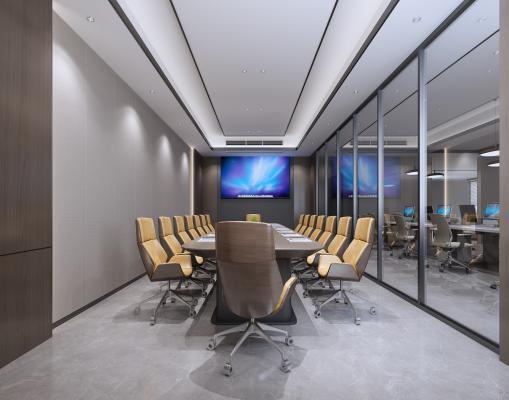 现代风格会议室 会议桌