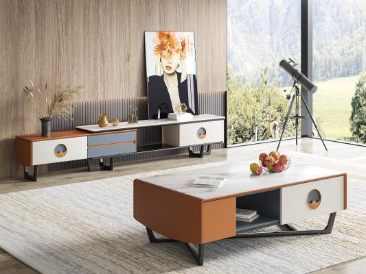 现代电视柜 茶几 饰品