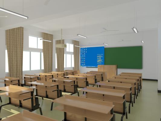 中式现代教室
