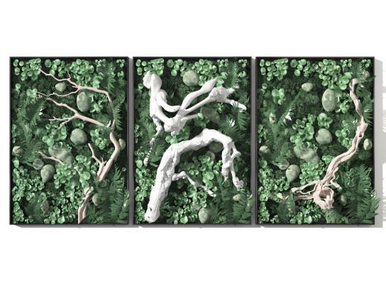现代植物墙 绿植墙