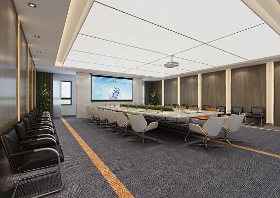 现代会议室 经理办公室 办公桌