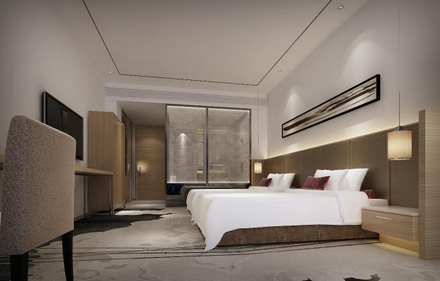 现代新中式酒店双标客房