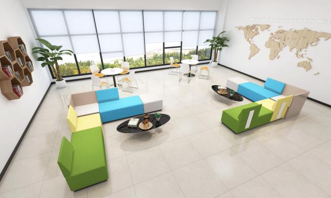 现代公司员工休息休闲区