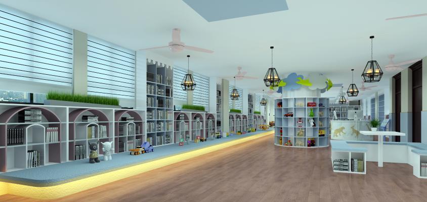 现代图书馆 活动中心 前台