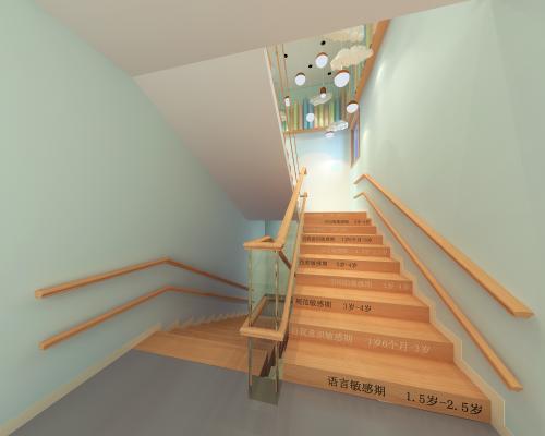 现代幼儿园走廊